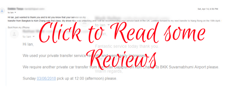 Click to read reviews of the provate transfer service