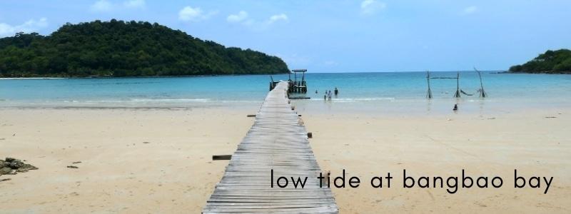 Low tide at Bangbao Beach, Koh Kood