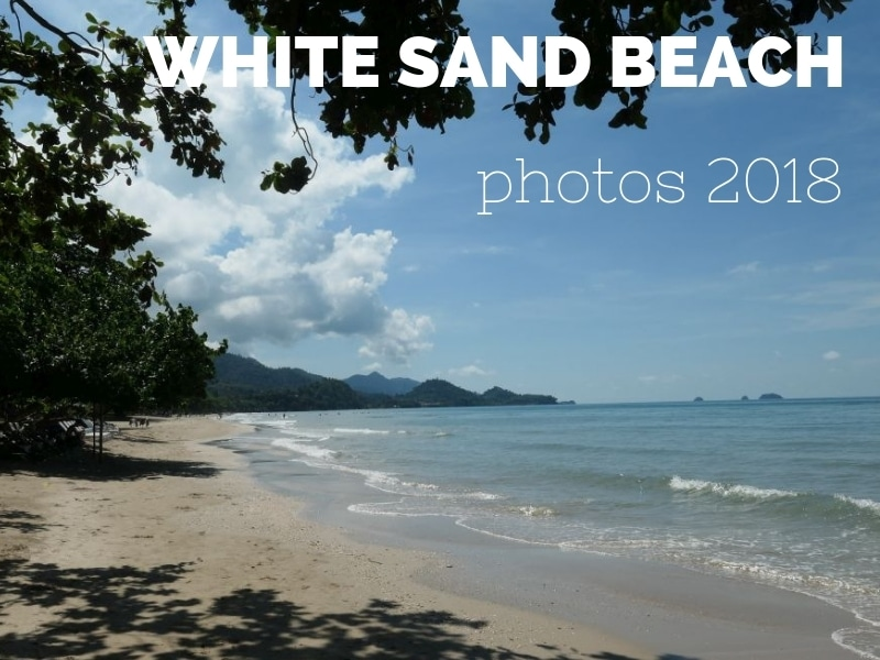 Photos from the north end of White Sand beach