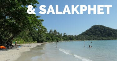 View of Long beach, Salakphet bay, Koh Chang