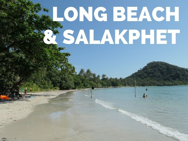 View of Long beach, Salakphet bay, Koh Chang