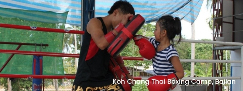 Thai boxing in Bailan, Koh Chang