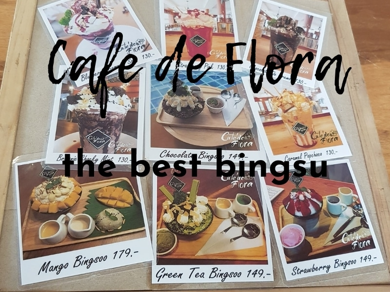 Bingsu cafe on Koh Chang at Cafe de Flora, Klong Prao