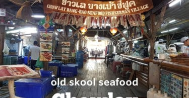 Traditional seafood restaurant in Bangbao fishing village