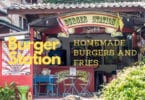 Burger Station, Koh Chang. Homemade beef burgers and french fries