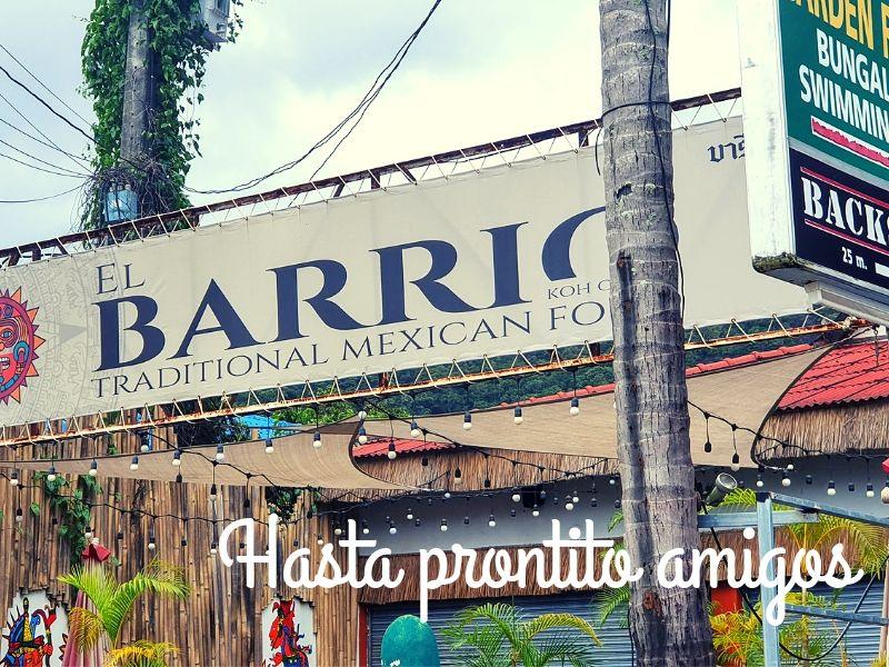 El Barrio Mexican restaurant, Kai Bae beach, Koh Chang