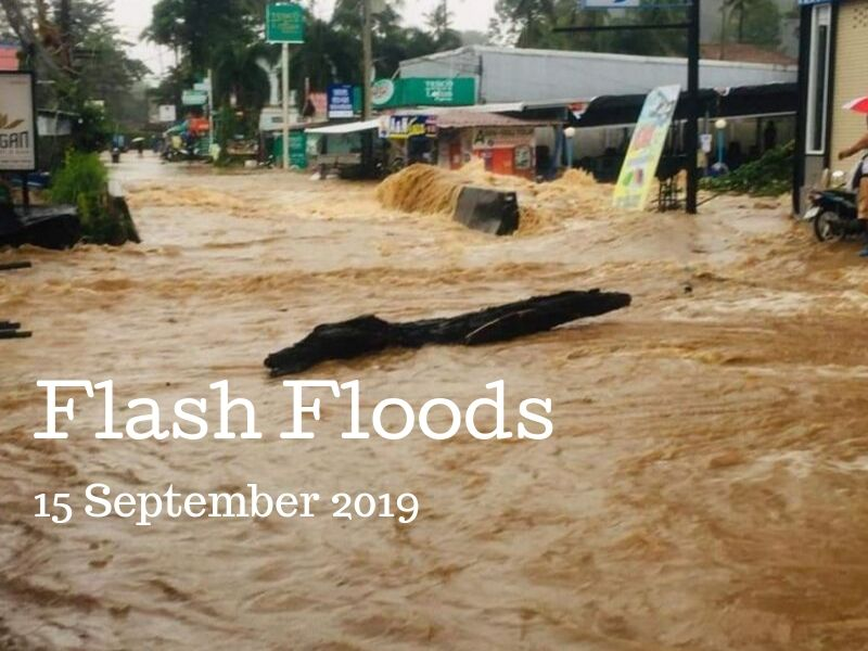 Flash floods hit Koh Chang