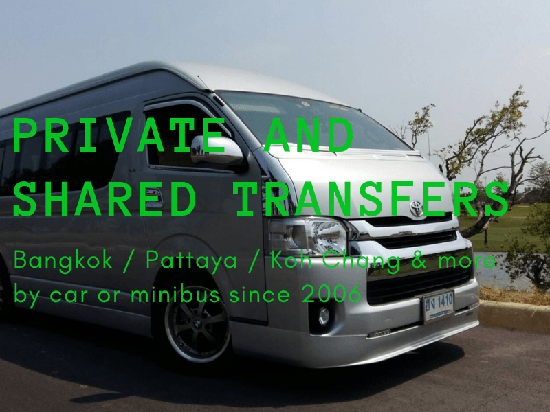 Private and shared transfers by car or minibus to Koh Chang