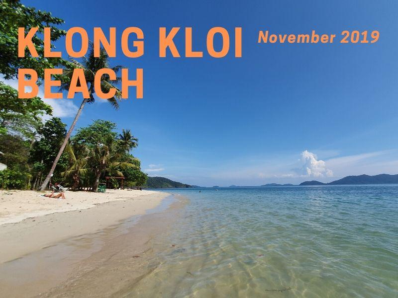 Klong Kloi beach, Bangbao 2019