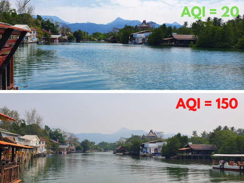 Koh Chang Air Quality comparison