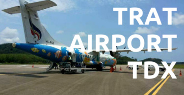 Bangkok Airways plane at Trat Airport