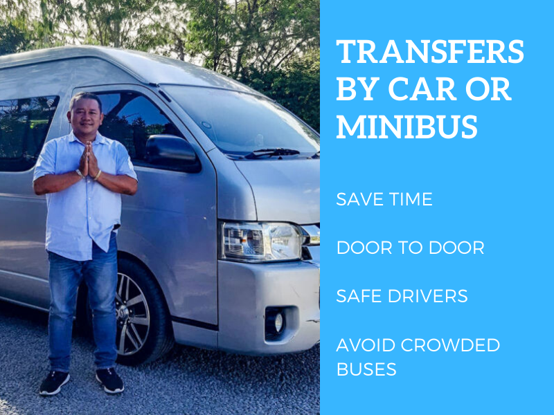 Private transfers to Koh Chang by car or minibus