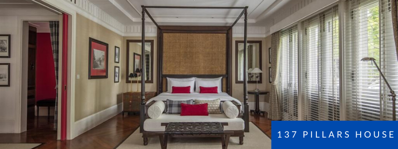 Stylish Colonian bedroom at 137Pillars house, Chiang Mai