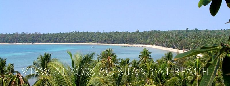 Panoramic view of Ao Suan Yai beach