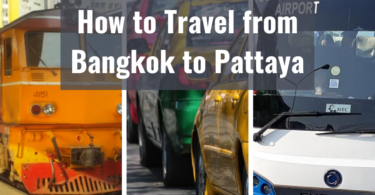 How to Travel from Bangkok to Pattaya
