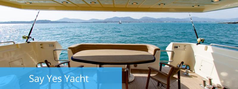 Fishing charter Say Yes yacht, Phuket