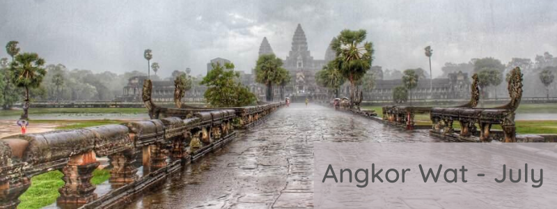 Angkor Wat in the rainy season