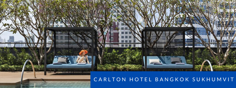 Poolside at the Carlton hotel Bangkok Suukhumvit