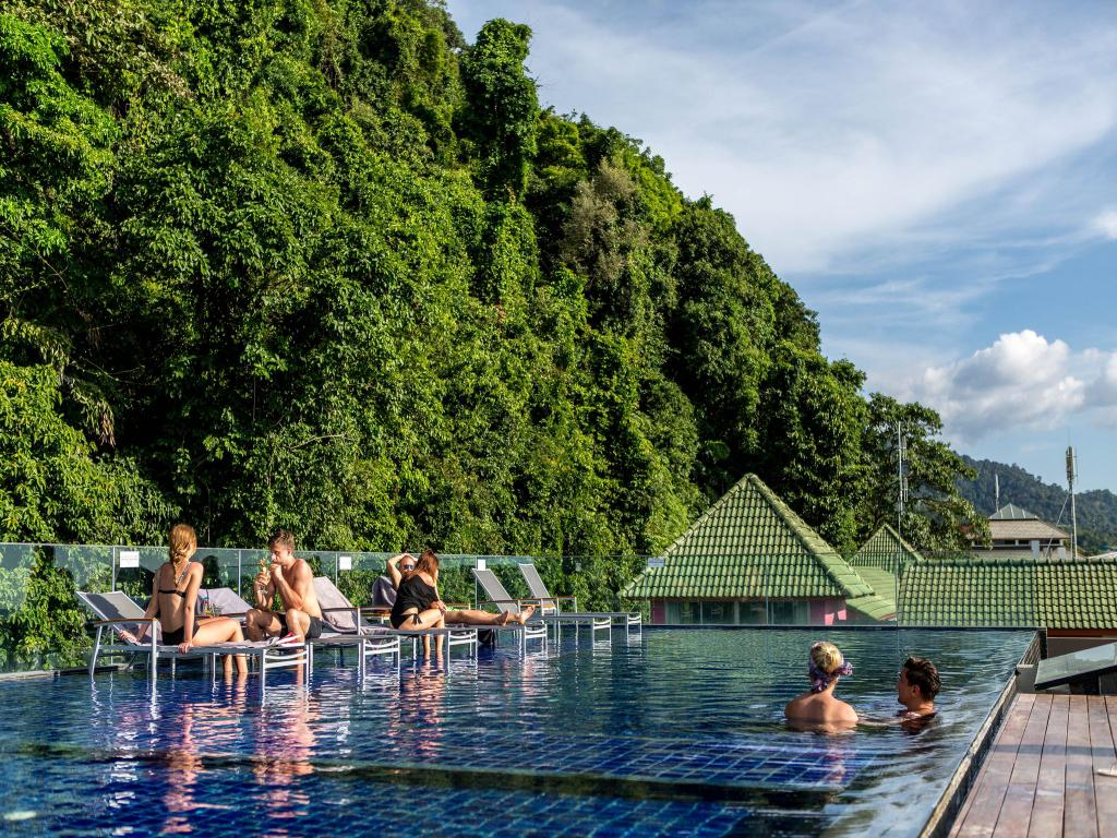 Rooftop pool at The Erawan, White Sand beach