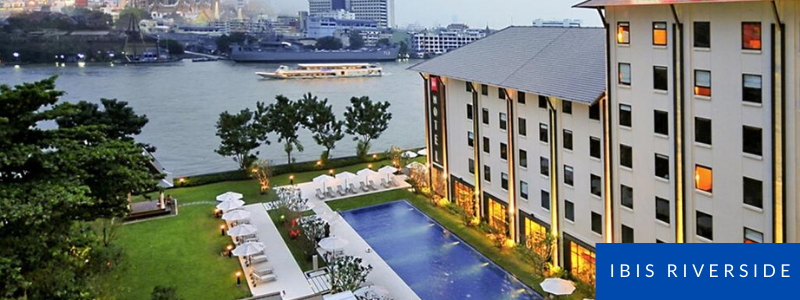 Pool and garden at Ibis Riverside, Bangkok