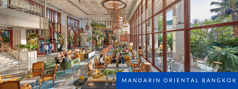 Lobby of the Mandarin Oriental Hotel, Bangkok