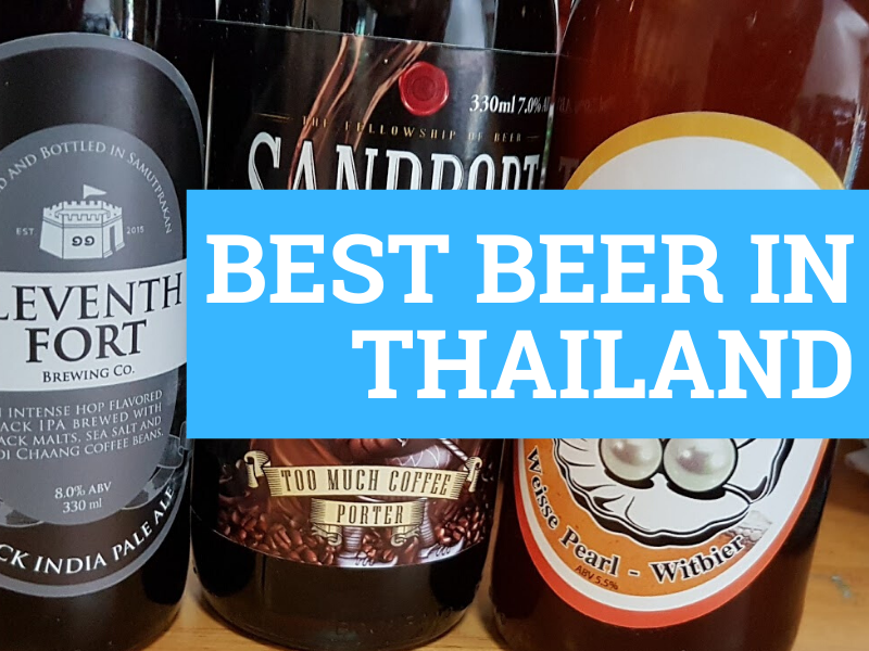 Three different craft beers that are made in Thailand