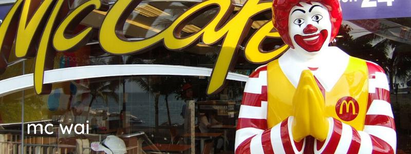 Ronald McDonald Wai in Bangkok