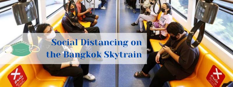 Bangkok skytrain social distancing
