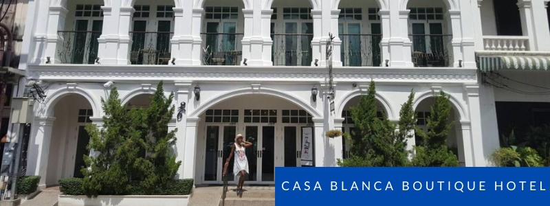 Frontage of Casa Blanca Boutique Hotel, Phuket