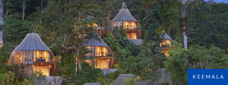 Luxury wooden villas at Keemala Resort, Phuket