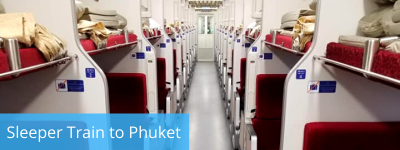 Sleeping berths on the Bangkok to Phuket train