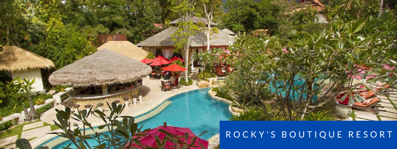 pool and bungalows at Rocky's Boutique Resort