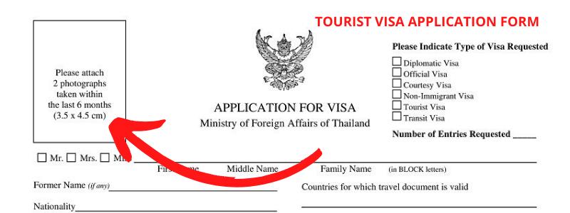 Thailand Tourist Visa Form