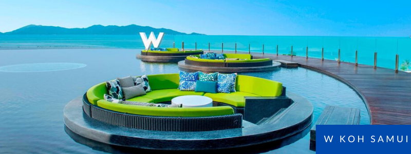 Pool with amazing views at W Koh Samui