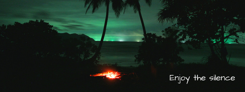 Camp fire on Wai Chaek beach