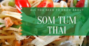 Bowl of Som Tam Thai