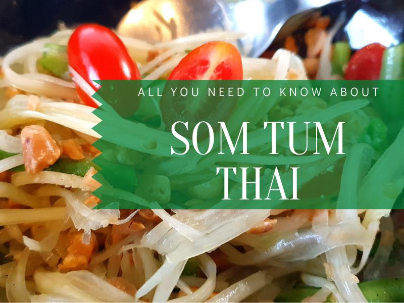 Bowl of Som Tam Thai