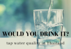 Glass of Bangkok tap water