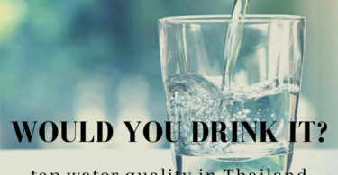 Glass of Bangkok tap water