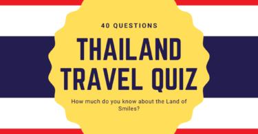 Thailand Travel Quiz