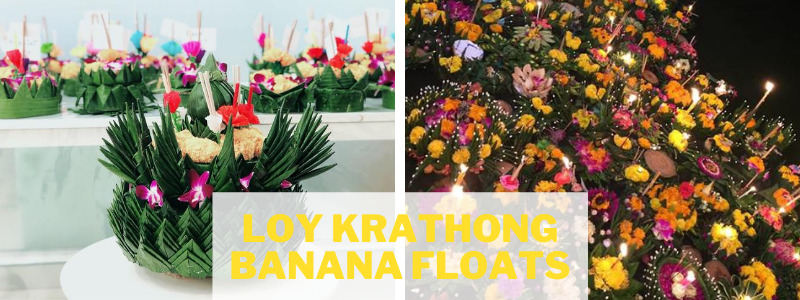Loy Krathong banana float