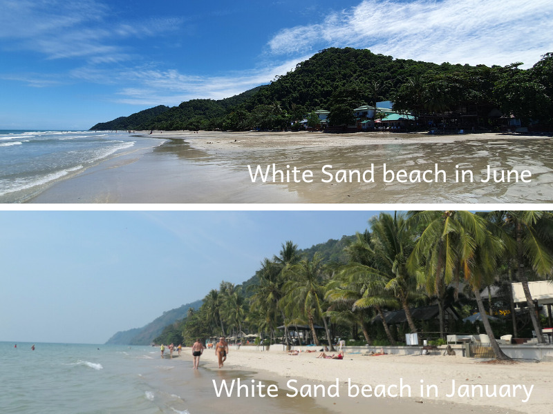 Tides on White Sand beach, Koh Chang