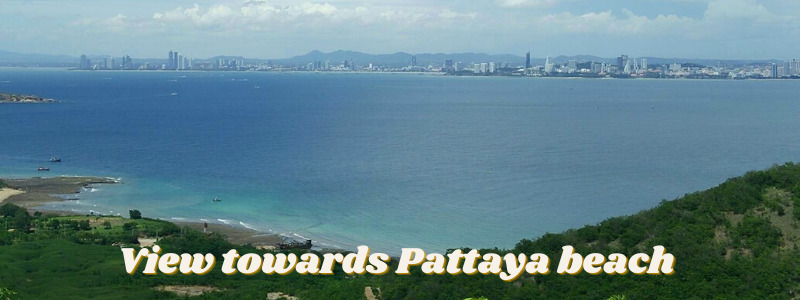 Pattaya view from Coral Island