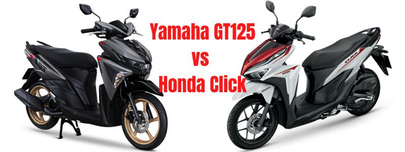 Yamaha GT125 vs Honda Click