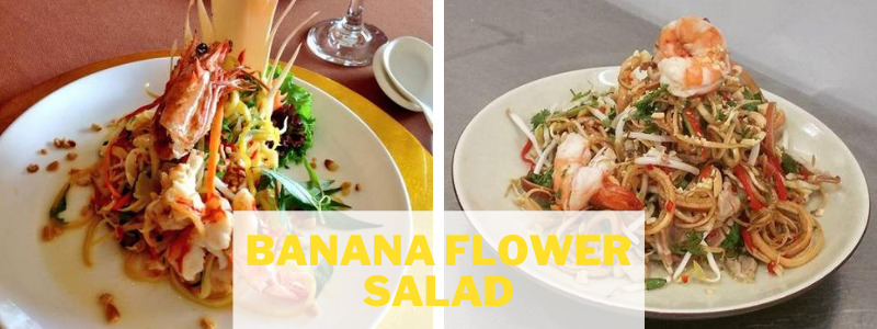 banana flower salad from Thailand