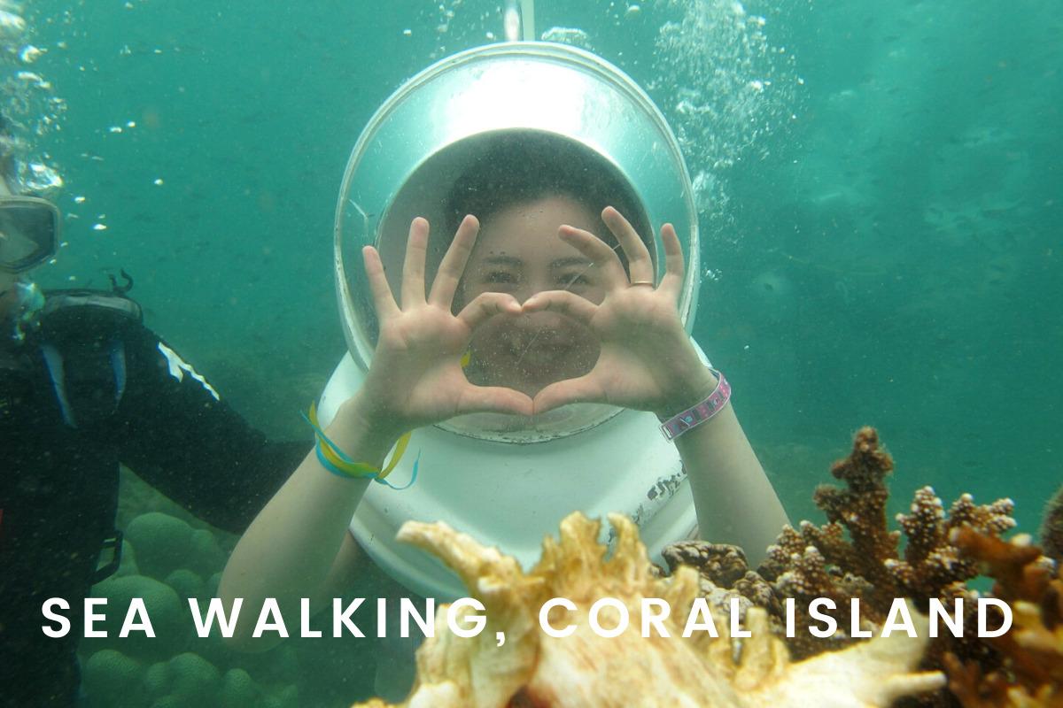 sea walking coral island pattaya