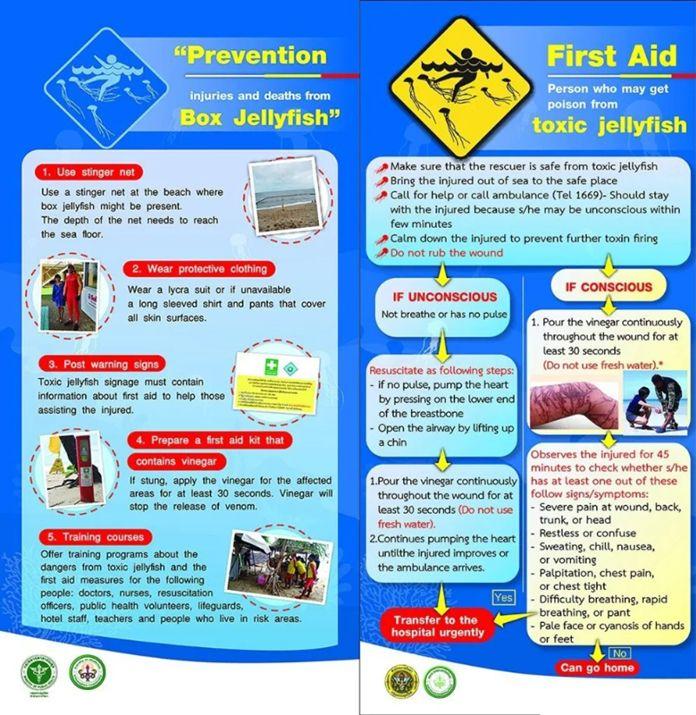 Jellyfish warning poster Thailand