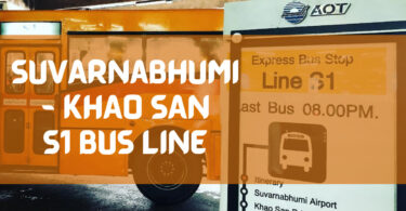 S1 bus route. Suvarnabhumi Airport to Khao San Road.