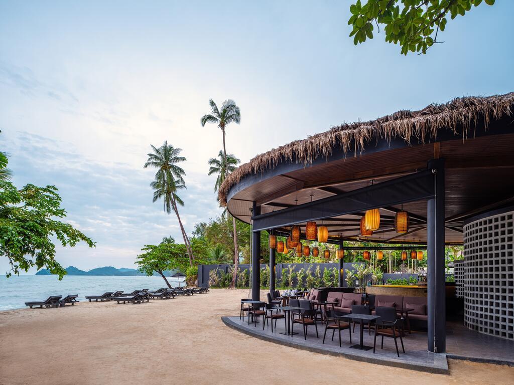Beachfront bar and restauranty at The Splash Koh Chang